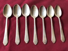 ANTIQUE AMERICAN STERLING SILVER LOT OF 7 LUNT TEA SPOONS 190 GRAMS NO MONOGRAM