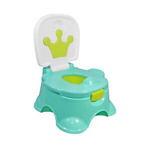 3 In 1 Baby Potty Training Urinal Green Crown Fun Toddler Toilet Trainer