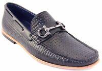 Sarreti Men/'s Slip On Leather Black Dress Shoes Made In Brazil 8901//5501