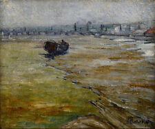 """École Impressionniste 1917. """"La Liane environ Boulogne sur Mer."""""""