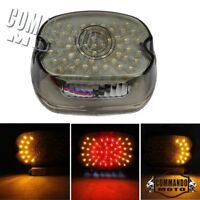 Motors LED Smoke Rear Taillight Tail Light Turn Signal Indicator Lamp For Harley