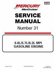 2002 Mercury MerCruiser Service Manual #31 5.0, 5.7, & 6.2 Liter Engines & Drive