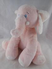 BABY GANZ Light Pink Musical Plush Stuffed ELEPHANT Moves Head Brahm's Lullaby