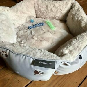 """Lux Warm Cozy Soft Plush Pet Bed for Cat (or Small Dog) Appx 18"""" x 6"""""""