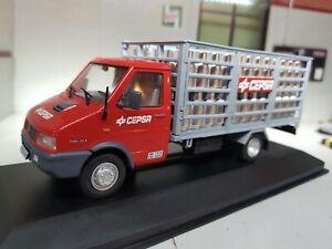 1:43 Scala O Gauge Atlas Oxford Modellino 1990 Iveco Daily Furgone Camion Gas