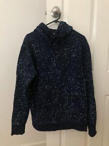 G-Star RAW Navy Hooded Sweatshirt Jumper Medium