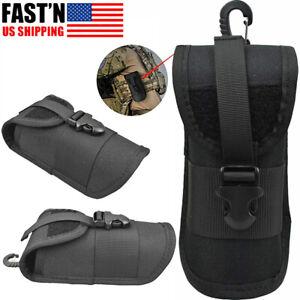 Tactical Molle Sunglasses Pouch Hard Case Anti-Shock Eyeglasses Holder Bag Box
