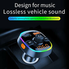 Wireless Bluetooth Handsfree Transmitter In-Car Mp3 Fm Dual Usb Charger Kit 2019