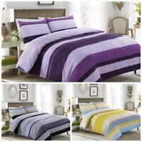 100% Cotton Negative Stripe Duvet Cover Set Bedding Set Duvet Covers Pillowcase