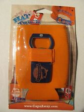 """NEW-Hat Trick 2 PACK-Can Cooly Bottle Opener Combo- """"Beer Bait"""" Fishing- Orange"""