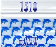 "100 PACK BLUE DOLPHINS 1510 Apple Ziplock Baggies 1.5X1.0"" Mini DOLPHIN"