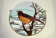 Vintage 5 lb Paper Bird Seed Feed Bag/Sack -Robin in Winter- Cincinnati, OH
