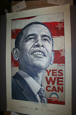 YES WE CAN PRESIDENT OBAMA OFFICIAL CAMPAIGN POSTER ANTAR DAYAL ARTIST FOR PRINT
