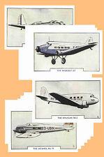 AIRCRAFT (1938) - CIGARETTE CARD POSTCARD SET # 2