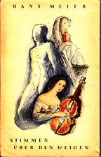 Meier, Hans – Stimmen über den Geigen, Wiener Bücherei Band 30, 1944, 2 Erzähl.
