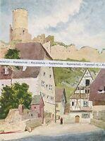 Kaysersberg - Carl Schuster - Elsass Alsace  um 1935 - selten!   N 3-14