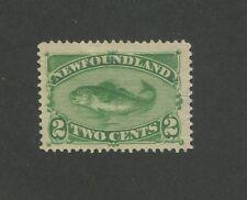 1882 Newfoundland Codfish 2 Cents Postage Stamp #46i