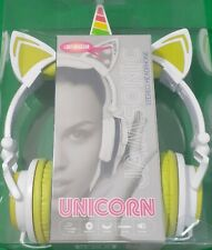 Jamsonic DJ-Style Light-Up UNICORN Headphones New in Box