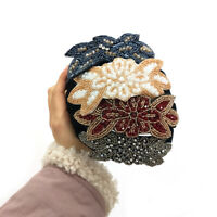 Ladies Crystal Wide Headband Beaded Hairband Alice Hair Band Accessories Prom