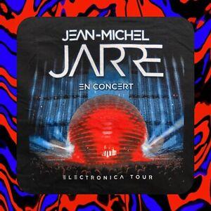 UNWORN JEAN MICHEL JARRE CONCERT T-SHIRT 2016 ELECTRONICA WORLD TOUR L NOS