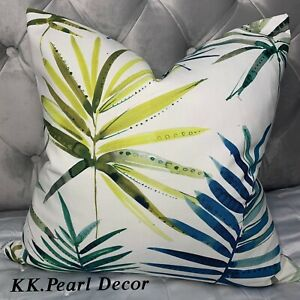 "Modern Cushion Cover 16"" Prestigious Textiles Topanga Fabric , Leaf Palm Design"