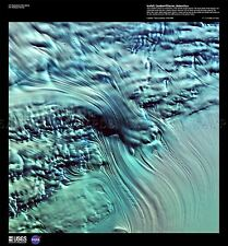 La Ciencia mapa satélite Antártica Lamber Glacier Ice Réplica cartel impresión pam1497