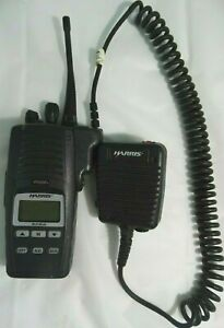 Harris P5500 Professional Two Way Radio w/ Mic