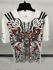 Mens Rugby Shirt Maori All Blacks Tribal Adidas Size XL