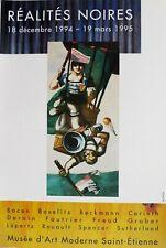 Affiche originale REALITES NOIRES, 40 x 60 cm, Poster Arts