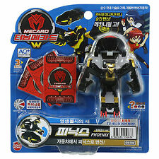 TURNING MECARD W PHOENIX BLACK GOLD Limited edition Toy Transformer CAR to Robot