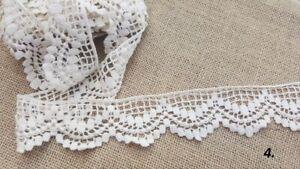 Vintage style 10m Cotton crochet scallop lace edge trim, cream,crafts,wedding