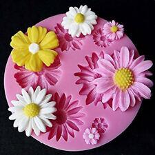 Mini Forma de Flor de la Margarita De Silicona Para Fondant Molde Sugarcraft Pastel Decoración Molde