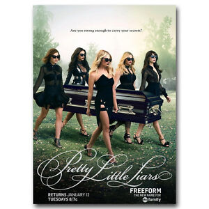 Pretty Little Liars Poster Art Silk TV Series Poster 13x18 24x32inch J411