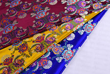 "1/2 YD 28"" TIBETAN DAMASK JACQUARD BROCADE FABRIC: ORIENTAL FLOWER BOUQUET -"
