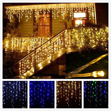 20M 10M Christmas Outdoor Decoration Droop curtain icicle string LED Fairy Light