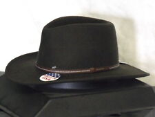 STETSON GALLATIN SAGE CRUSHABLE 100% WOOL WESTERN HAT