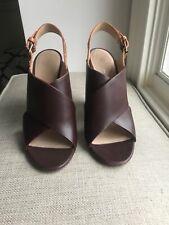 Celine Leather Python Wedge Sandals EU40