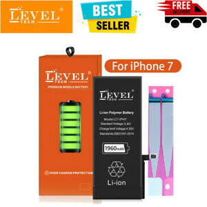 LEVEL TECH Genuine Original Replacement Battery for Apple iPhone 7 1960mAh Tape