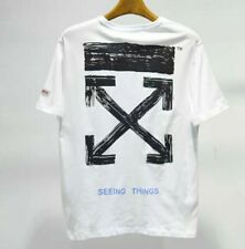 OFF WHITE Unisex T-Shirts loose Short Sleeve Printing Casual Sweatshirt Tops Neu