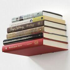 Conceal Invisible Floating Shelf Book Holder Wall Mount Umbra Silver Bookshelf