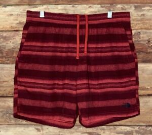 THE NORTH FACE MENS SWIM TRUNKS UNLINED SIZE LARGE RED IN COLOR