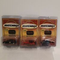 RARE  2002  Matchbox Trump, 3 Car Series, Limousine, Helicopter And Boat