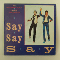 "Paul McCartney & Michael Jackson ‎– Say Say Say -  Vinyl, 7"", 45 RPM, Single"