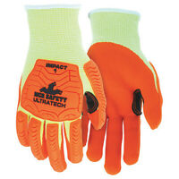 Mcr Safety Ut1955xxl Coated Gloves,2Xl,Knit Cuff,Pk12