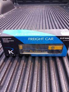 K-LINE ALASKA ARR 661 1011 Flatcar  O GAUGE