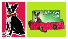 """New listing Petco""""Time for Joy""""Collar""""Gold Jingle Bell Red Velvet Dog Xmas Scrunchie L/Xl Nw"""