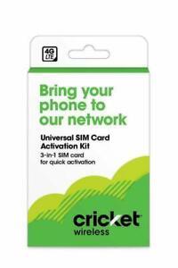 Cricket Phone Byod 2.0 Wireless Universal SIM Card 4G LTE 3-In-1 Sim Card Kit