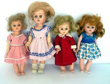 Pma and Ginny Type Hard Plastic 8� 9� Walker Dolls Lot of 4 1950's