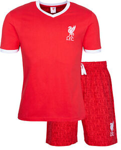 Liverpool FC Mens Pyjamas, Mens LFC Summer Pjs, Official Merchandise