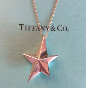 """ANGELA CUMMINGS Sterling Silver Necklace STAR Tiffany & CO 16.25"""" 5g #975"""